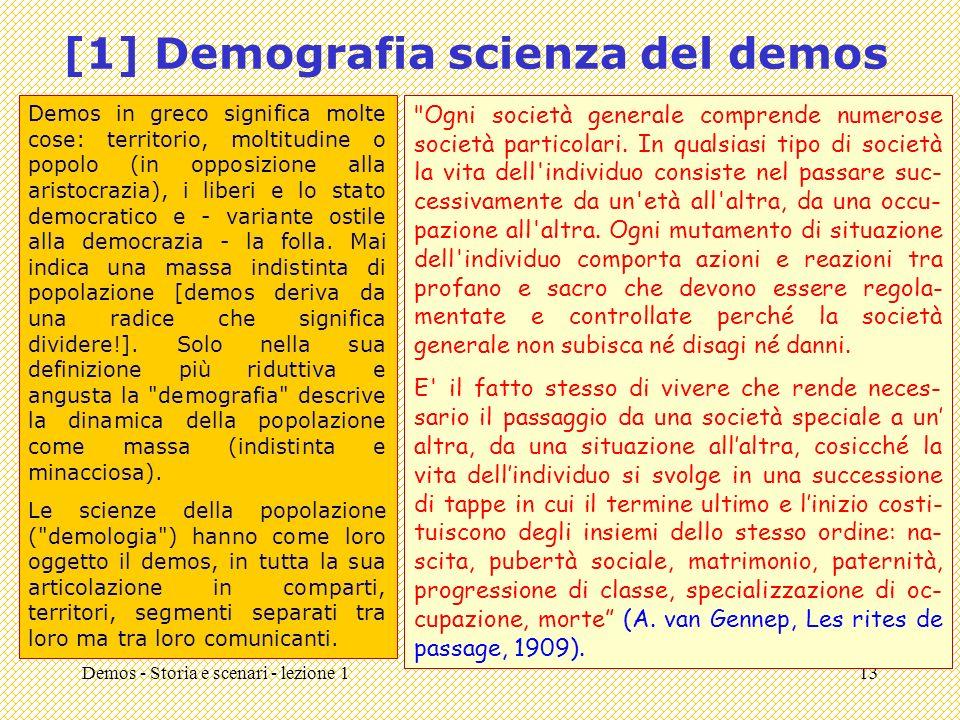 [1] Demografia scienza del demos